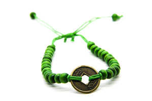 SeaGrass Green Beaded Surf Bracelet | Beach Jewellery | Ben's Beach UK