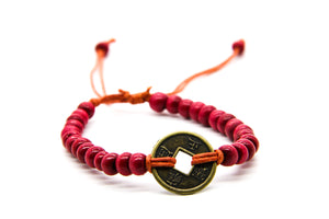 Red Beaded Bracelets | Beach-Style Bracelet | Surf-Girl Style | Ben's Beach London | Fair Trade Jewellery