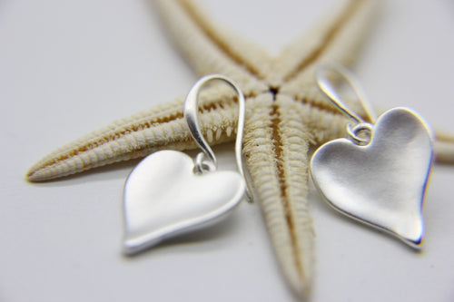 Silver Heart Earrings | Ben's Beach