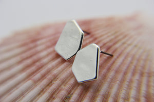 Tangalle - hexagon shaped stud earrings