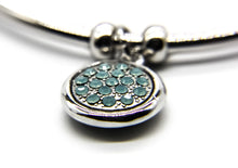 Load image into Gallery viewer, Silver Beach Bangle | Close up of crystal pendant | Ben's Beach