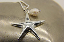 Load image into Gallery viewer, Starfish and real pearl necklace | Ben's Beach Jewellery