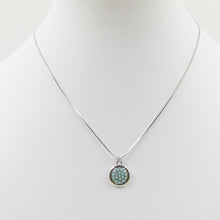 Load image into Gallery viewer, Silver Necklace | Turquoise circular pendant | Ben's Beach