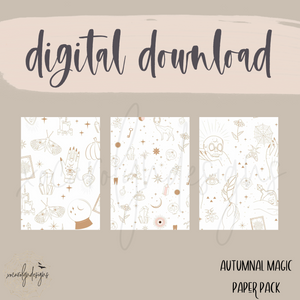 DIGITAL: Autumnal Magic Paper Pack (Personal Rings)