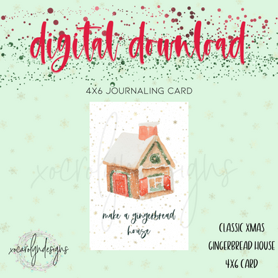 DIGITAL: Classic Christmas Gingerbread House