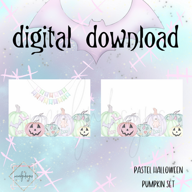 DIGITAL: Pastel Halloween Pumpkin Set (Personal Rings)