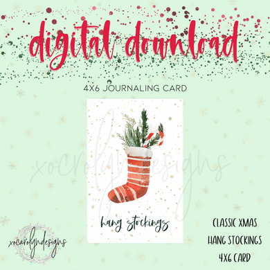 DIGITAL: Classic Christmas Hang Stockings