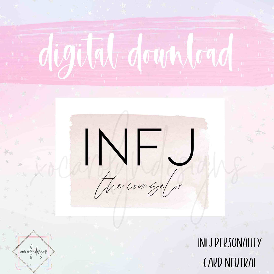 DIGITAL: INFJ - The Counselor Neutral (A5 Wide Rings)