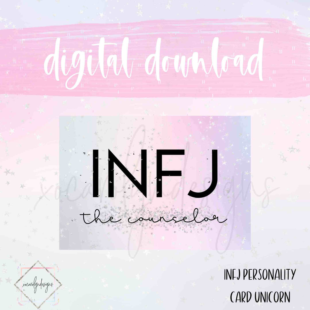 DIGITAL: INFJ - The Counselor Unicorn (A5 Wide Rings)