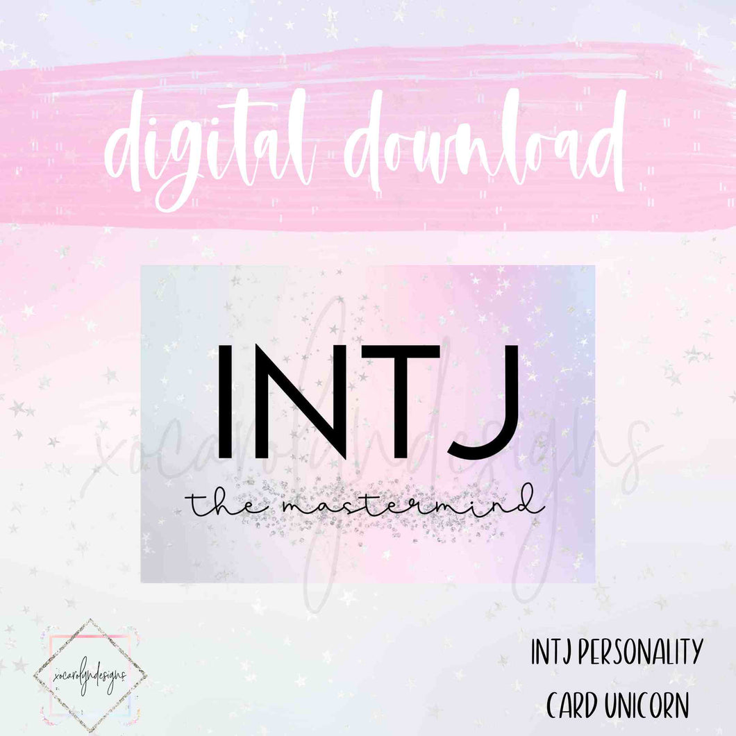 DIGITAL: INTJ - The Mastermind Unicorn (A5 Rings)
