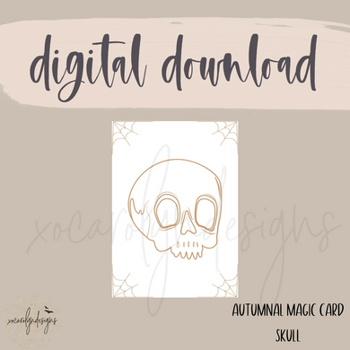 DIGITAL: Autumnal Magic Skull Card