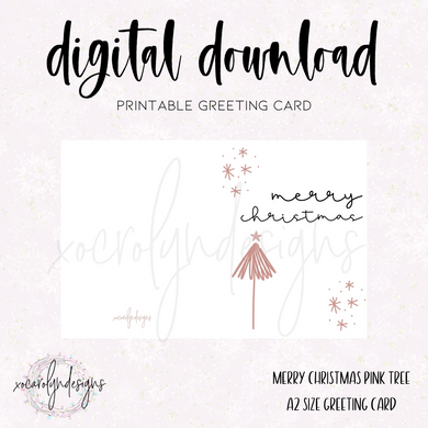 PRINTABLE GREETING CARD: Merry Christmas
