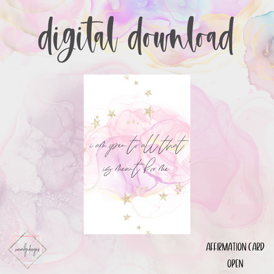 DIGITAL: Affirmation OPEN Card