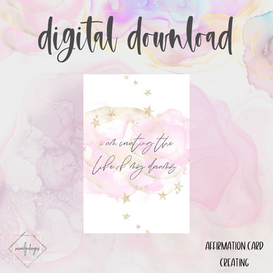 DIGITAL: Affirmation CREATING Card