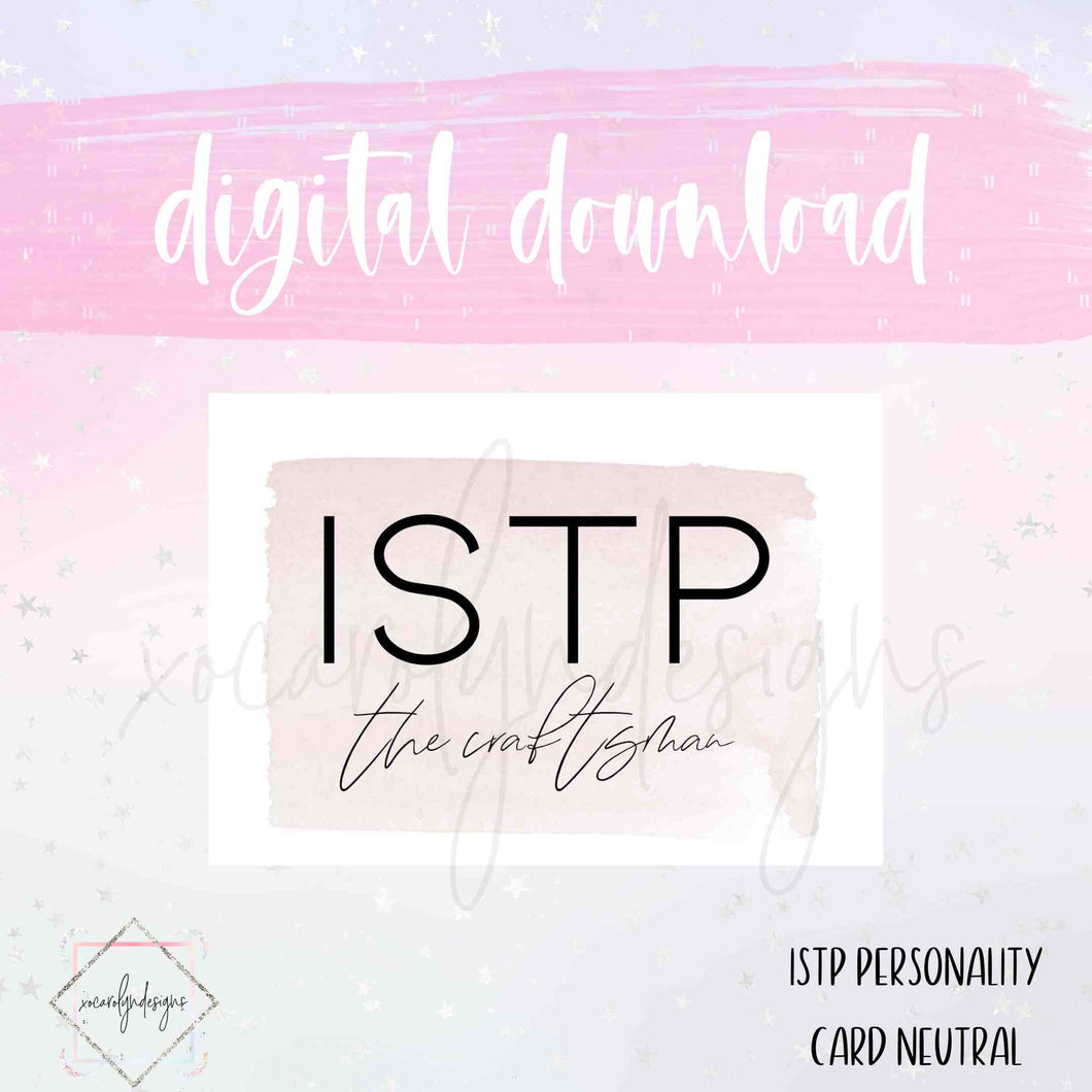 DIGITAL: ISTP - The Craftsman Neutral (A5 Rings)