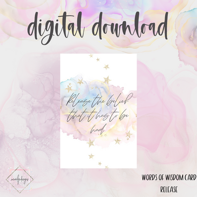 DIGITAL: Words of Wisdom  RELEASE Card