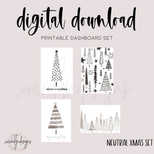 DIGITAL: Neutral Xmas (A5 Wide Rings)