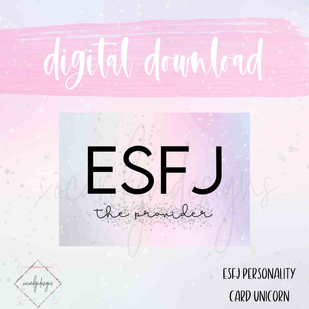 DIGITAL: ESFJ - The Provider Unicorn (Mini HP)