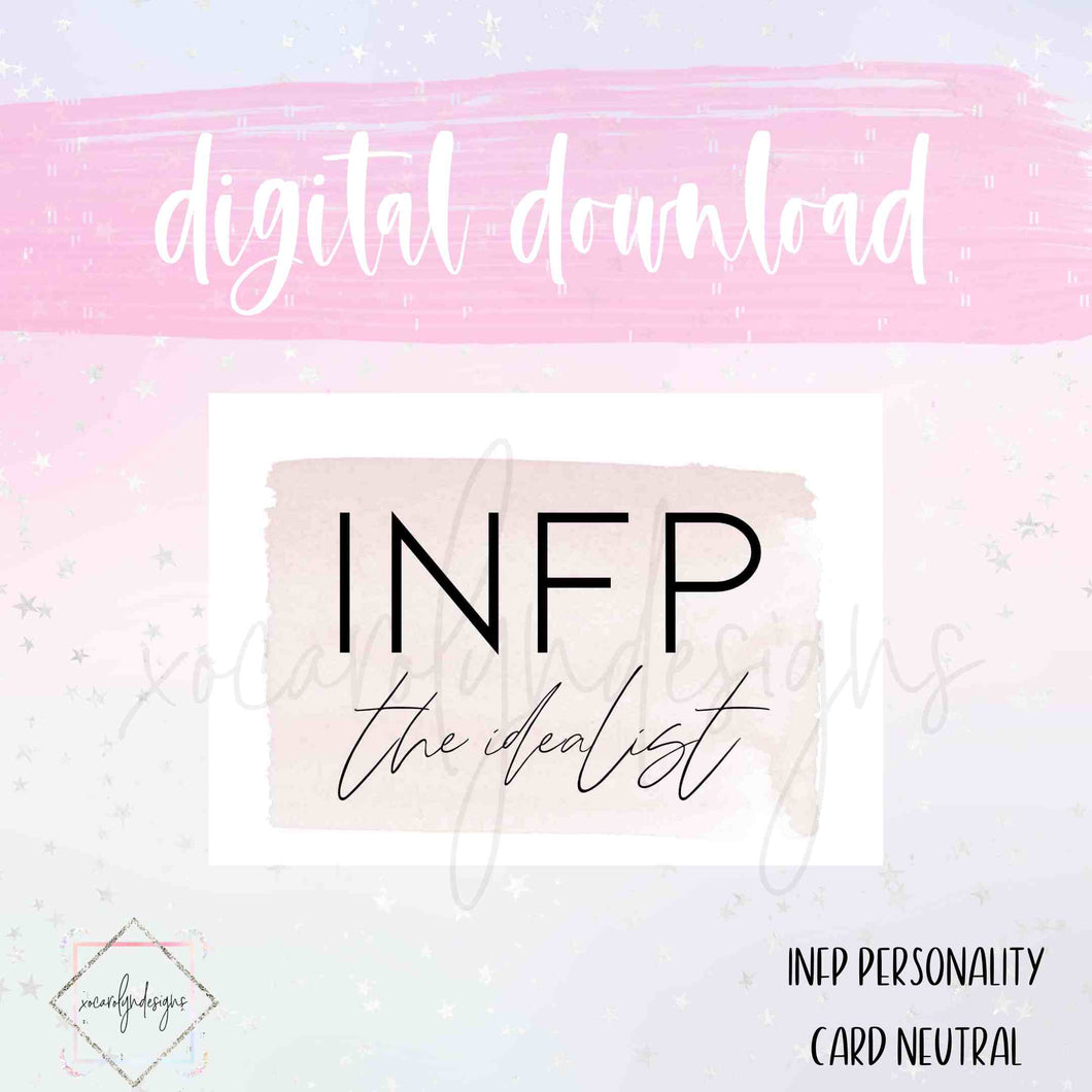 DIGITAL: INFP - The Idealist Neutral (B6 Rings)