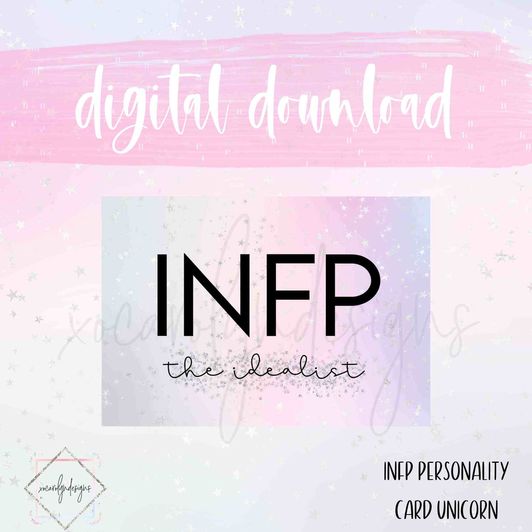 DIGITAL: INFP - The Idealist Unicorn (A6 Rings)