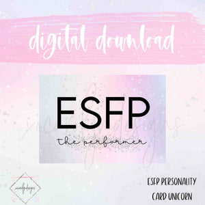 DIGITAL: ESFP - The Performer Unicorn (A6 Rings)