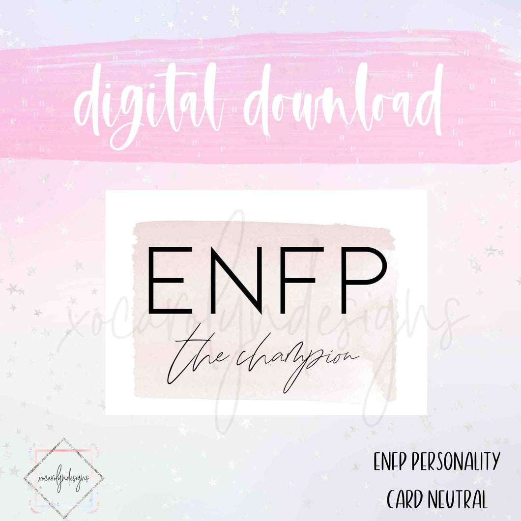 DIGITAL: ENFP - The Champion Neutral (Mini HP)