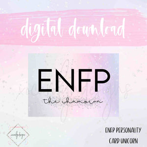 DIGITAL: ENFP - The Champion Unicorn (Pocket Rings)