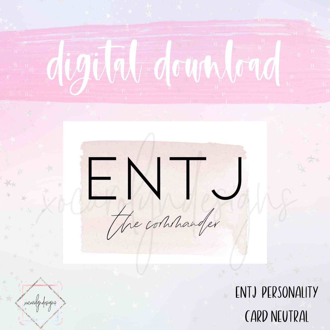 DIGITAL: ENTJ - The Commander Neutral (Classic HP)