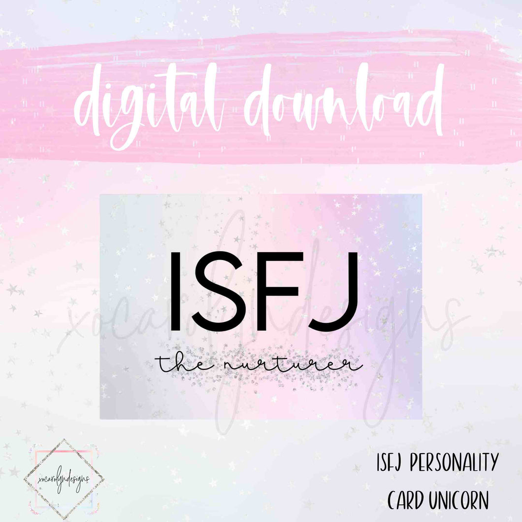 DIGITAL: ISFJ - The Nurturer Unicorn (A5 Rings)