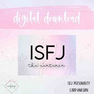 DIGITAL: ISFJ - The Nurturer Unicorn (B6 Rings)