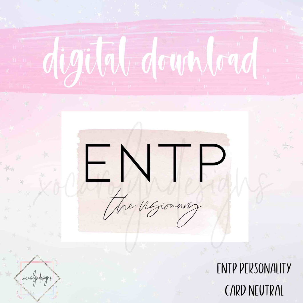 DIGITAL: ENTP - The Visionary Neutral (Pocket Rings)