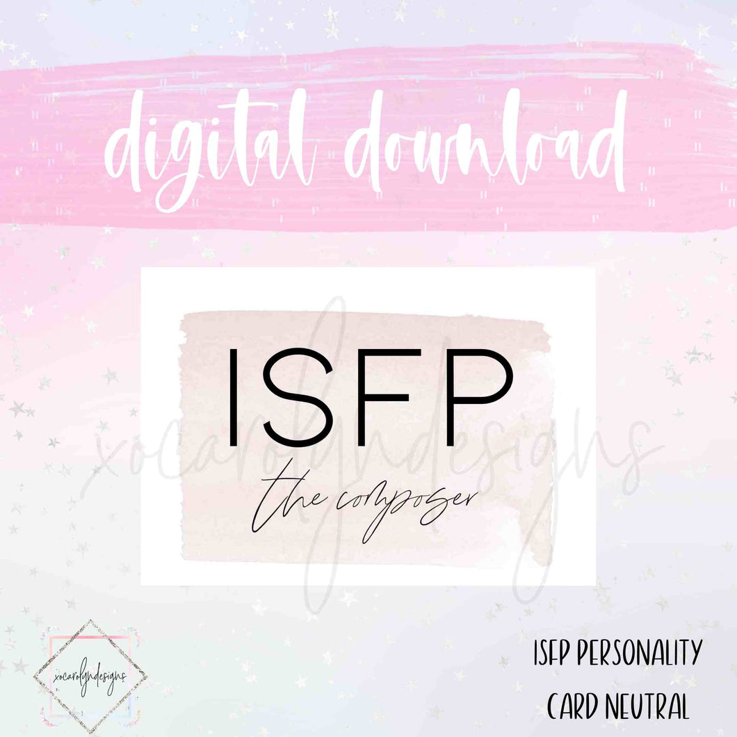 DIGITAL: ISFP - The Composer Neutral (A5 Rings)