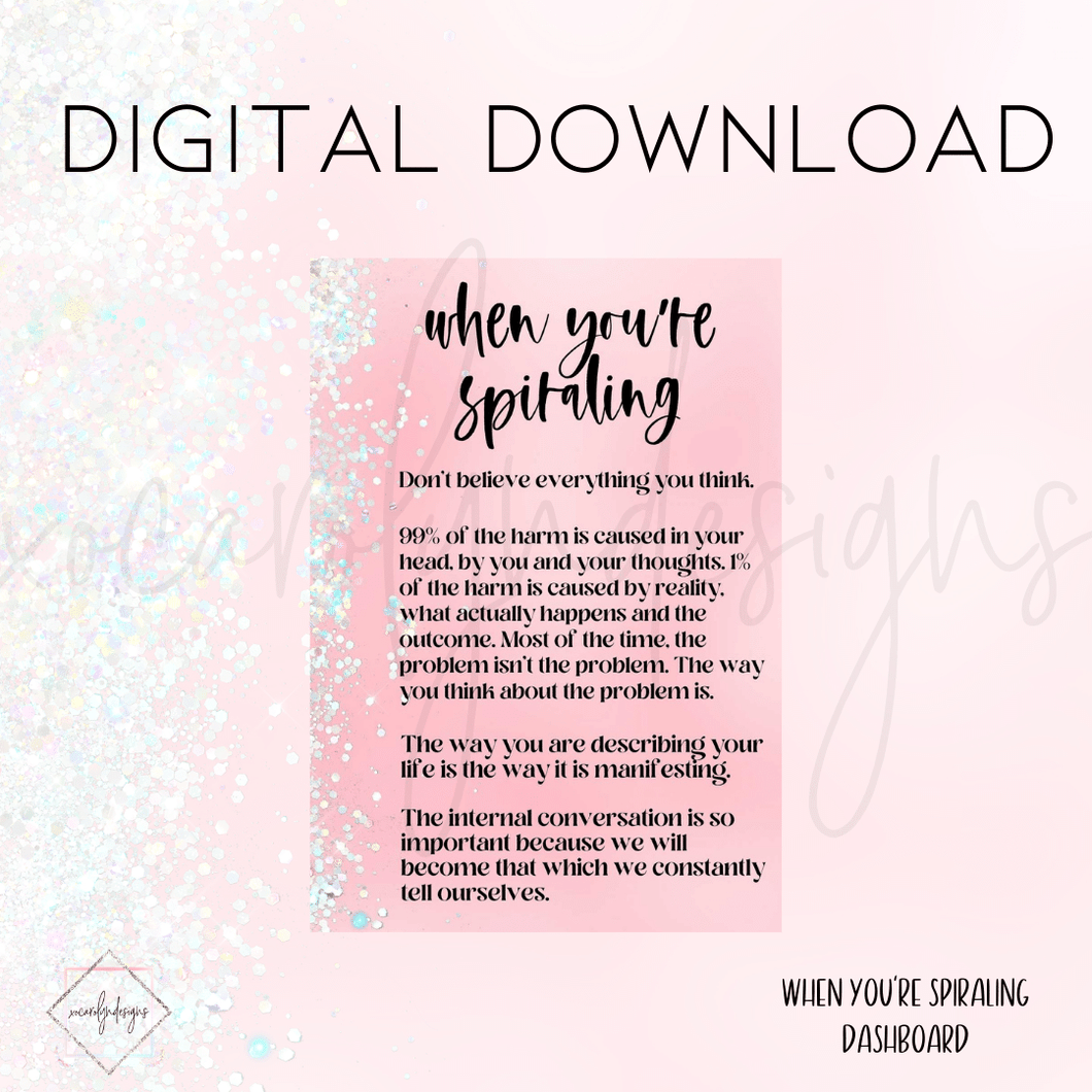 DIGITAL: When You're Spiraling (Pocket Plus Rings)
