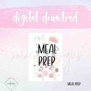 DIGITAL: Meal Prep (Pocket Rings)