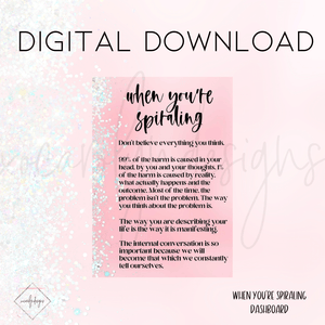 DIGITAL: When You're Spiraling (Personal Rings)