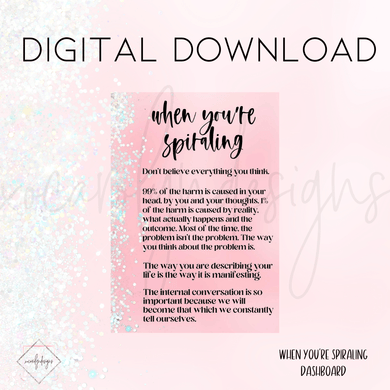 DIGITAL: When You're Spiraling (PW Rings)