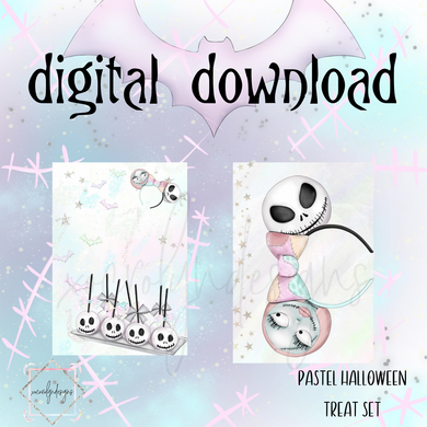 DIGITAL: Pastel Halloween Treats Set (Personal Rings)