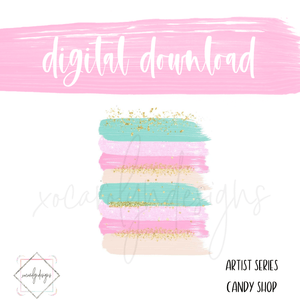DIGITAL: Paint Series Candy Shop (Pocket Plus Rings)