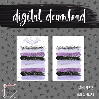 DIGITAL: Paint Series Goth Purple (A5 Wide Rings)
