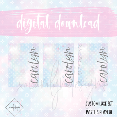 DIGITAL: Custom Luxe Pastels Playful (ALL SIZES)
