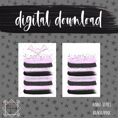 DIGITAL: Paint Series Goth Pink (B6 Rings)