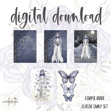 DIGITAL: The Corpse Bride Classic Emily Set (PW Rings)