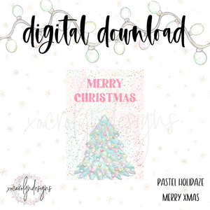 DIGITAL: Pastel Holidaze Merry Xmas (Mini HP)