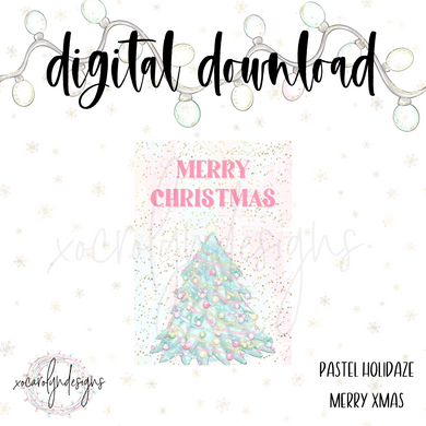 DIGITAL: Pastel Holidaze Merry Xmas (PW Rings)