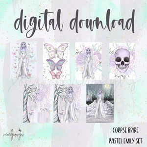 DIGITAL: The Corpse Bride Pastel Emily Set (Pocket Rings)