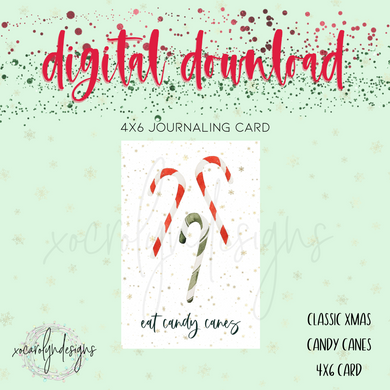 DIGITAL: Classic Christmas Candy Canes