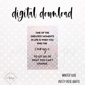 "DIGITAL: Winter Luxe ""Courage"" Dash (A5 Wide)"