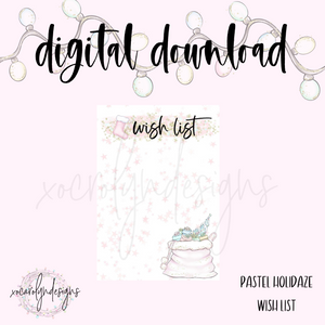DIGITAL: Pastel Holidaze Wish List (Mini HP)