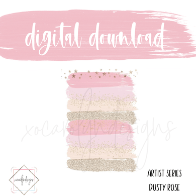 DIGITAL: Paint Series Dusty Rose (A5 Wide Rings)