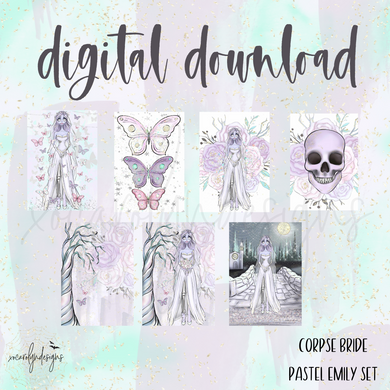 DIGITAL: The Corpse Bride Pastel Emily Set (A6 Rings)